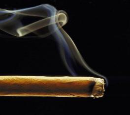 image of burning cigar